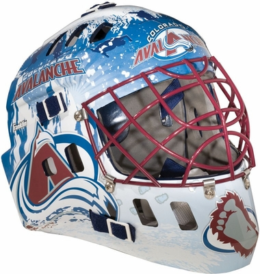 NHL Team SX Comp 100 Goalie Face Mask Avalanche - Franklin Sports