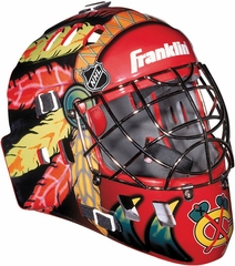 NHL Team SX Comp 100 Goalie Face Mask Blackhawks - Franklin Sports