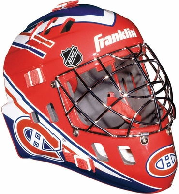 NHL Team SX Comp 100 Goalie Face Mask Canadiens - Franklin Sports