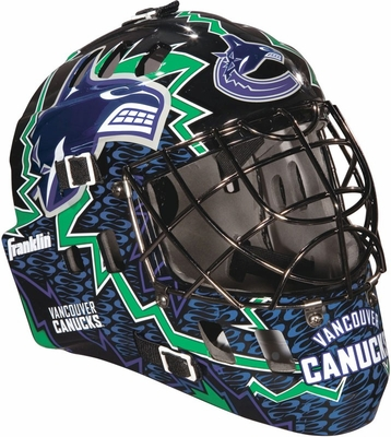NHL Team SX Comp 100 Goalie Face Mask Canucks - Franklin Sports