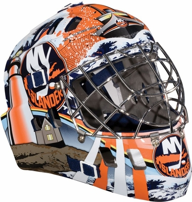 NHL Team SX Comp 100 Goalie Face Mask Islanders - Franklin Sports
