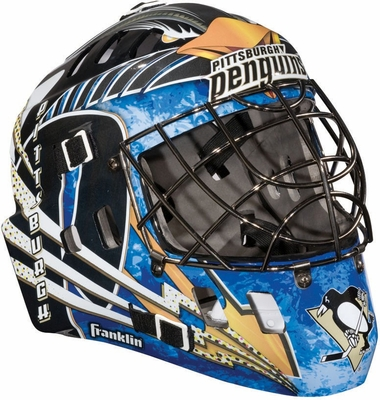 NHL Team SX Comp 100 Goalie Face Mask Penguins - Franklin Sports