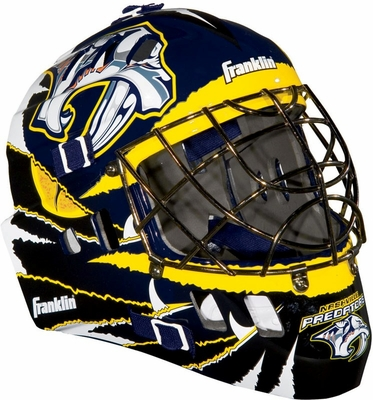 NHL Team SX Comp 100 Goalie Face Mask Predators - Franklin Sports