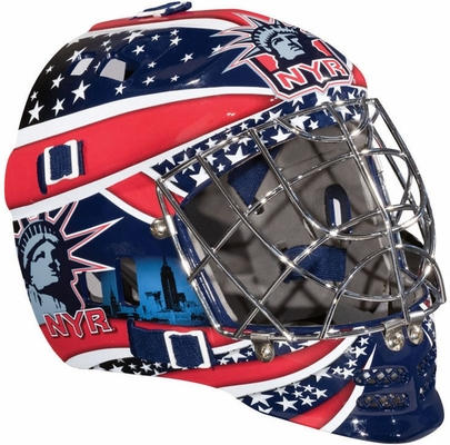 NHL Team SX Comp 100 Goalie Face Mask Rangers - Franklin Sports