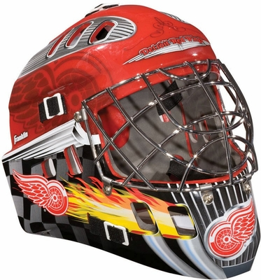 NHL Team SX Comp 100 Goalie Face Mask Red Wings - Franklin Sports