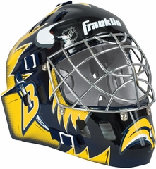 NHL Team SX Comp 100 Goalie Face Mask Sabres - Franklin Sports