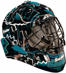 NHL Team SX Comp 100 Goalie Face Mask Sharks - Franklin Sports