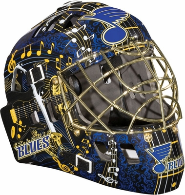NHL Team SX Comp 100 Goalie Face Mask St. Louis Blues - Franklin Sports