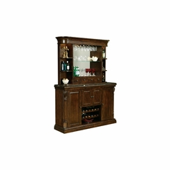 Niagara Bar Console with Hutch - Distressed Rustic Cherry - Howard Miller