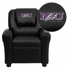 Niagara University Purple Eagles Black Vinyl Kids Recliner - DG-ULT-KID-BK-41056-EMB-GG