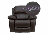 Niagara University Purple Eagles Embroidered Brown Leather Rocker Recliner  - MEN-DA3439-91-BRN-41056-EMB-GG