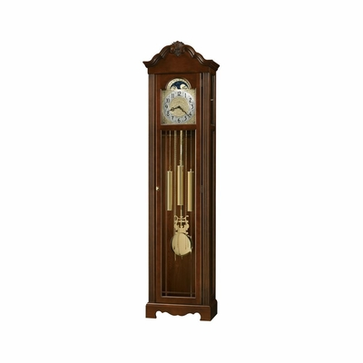 Nicea Grandfather Clock in Saratoga Cherry - Howard Miller