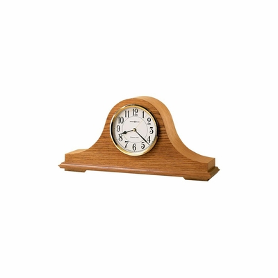 Nicholas Golden Oak Mantel Clock - Howard Miller