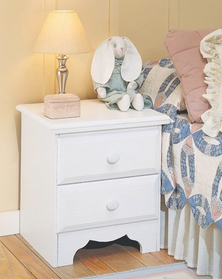 Night Stand in Pearl White - Reflections - New Visions by Lane - 924-810