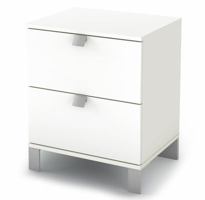 Night Stand in Pure White - Sparkling - South Shore Furniture - 3260060