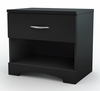 Night Stand in Solid Black - South Shore Furniture - 3107062
