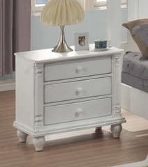 Night Stand - Kayla Night Stand in White - Coaster - 201182