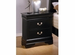 Night Stand - Louis Philippe Night Stand in Deep Black - Coaster - 201072