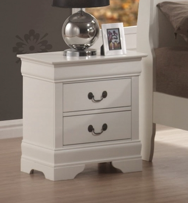 Night Stand - Louis Philippe Night Stand in White - Coaster - 201692