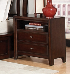 Night Stand - Nadine Night Stand in Dark Mahogany - Coaster - 201332