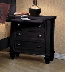 Night Stand - Sandy Beach Night Stand in Black - Coaster - 201322