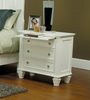 Night Stand - Sandy Beach Night Stand in White - Coaster - 201302