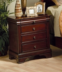 Night Stand - Versailles Night Stand in Deep Mahogany - Coaster - 201482