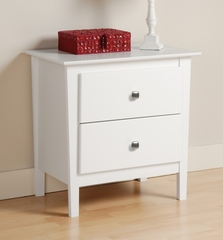 Night Stand with 2 Drawers in White - Berkshire - Prepac Furniture - WRK-2525