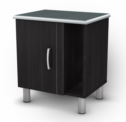 Night Table in Black/Onyx and Charcoal - Cosmos - South Shore Furniture - 3127063
