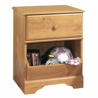 Nightstand - Night Table in Country Pine - South Shore Furniture - 3432062