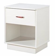 Nightstand - Night Table in Pure White - South Shore Furniture - 3360062