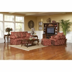 Noble Sofa, Chair and Ottoman Crimson - Largo - LARGO-WG-F2570-SET