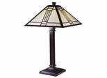 Noir Mission Table Lamp - Dale Tiffany - TT100015