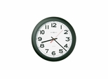 Norcross Matte Black Wall Clock - Howard Miller