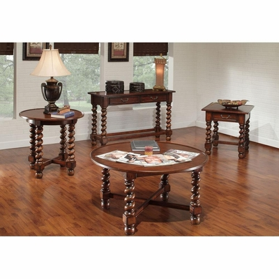 Normandy 4 Piece Accent Table Set Antique Oak - Largo - LARGO-WG-T826-SET