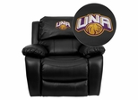 North Alabama Lions Embroidered Black Leather Rocker Recliner  - MEN-DA3439-91-BK-41090-EMB-GG