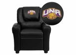 North Alabama Lions Embroidered Black Vinyl Kids Recliner - DG-ULT-KID-BK-41090-EMB-GG