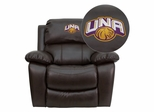 North Alabama Lions Embroidered Brown Leather Rocker Recliner  - MEN-DA3439-91-BRN-41090-EMB-GG