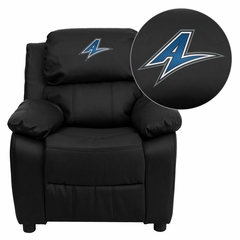 North Carolina - Asheville Bulldogs Black Leather Kids Recliner - BT-7985-KID-BK-LEA-45023-EMB-GG