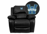 North Carolina - Wilmington Seahawks Leather Rocker Recliner - MEN-DA3439-91-BK-45024-EMB-GG