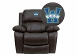 North Carolina - Wilmington Seahawks Leather Rocker Recliner - MEN-DA3439-91-BRN-45024-EMB-GG