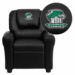 Northeastern State University Riverhawks Embroidered Black Vinyl Kids Recliner - DG-ULT-KID-BK-41057-EMB-GG
