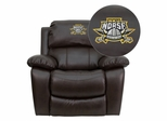 Northern Kentucky University Norses Brown Leather Recliner - MEN-DA3439-91-BRN-41058-EMB-GG