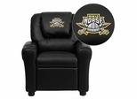 Northern Kentucky University Norses Embroidered Black Vinyl Kids Recliner - DG-ULT-KID-BK-41058-EMB-GG