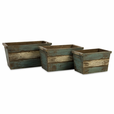 Northfork Wood Storage Bins (Set of 3) - IMAX - 29110-3
