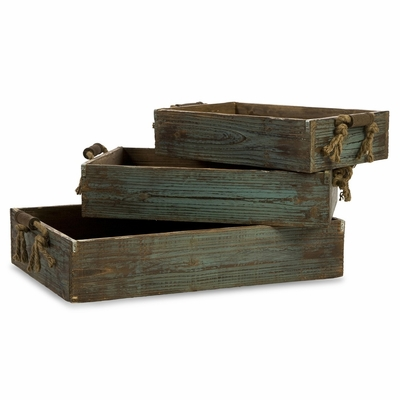 Northfork Wood Trays (Set of 3) - IMAX - 29106-3