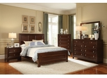Nortin 5 Piece Bedroom Set in Dark Cherry - 202191X