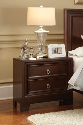 Nortin Dark Cherry Nightstand - 202192