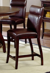 Nottingham Curved Non-Swivel Counter Stool (Set of 2) - Hillsdale Furniture - 4077-822