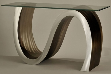 Nova Meandering Glass Top Console Table - Nova Lamps - CST15RBA